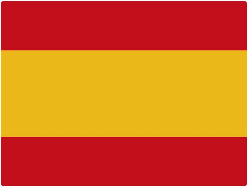 Artimagen Pegatina Bandera Rectangular España 120x80 mm.: Amazon.es: Coche y moto