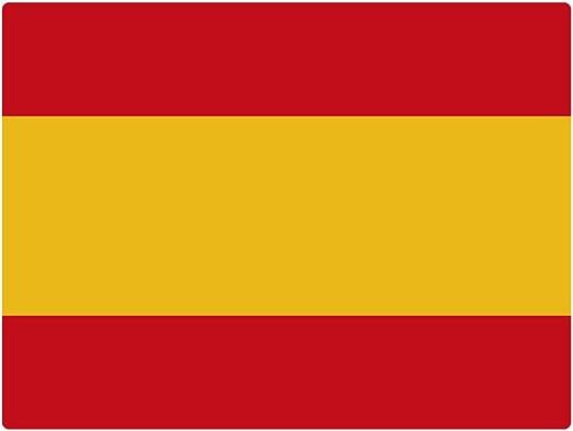 Artimagen Pegatina Bandera Rectangular España 80x60 mm.: Amazon.es: Coche y moto