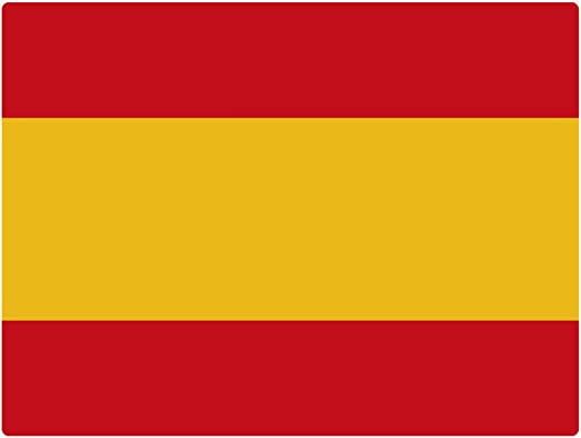 Artimagen Pegatina Bandera Rectangular España 120x80 mm.: Amazon ...
