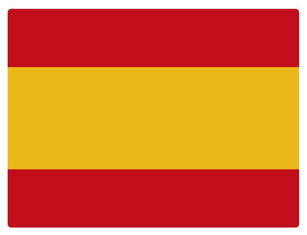 Artimagen Pegatina Bandera Rectangular Españ a 80x60 mm. Ediciones Imagina S.L.