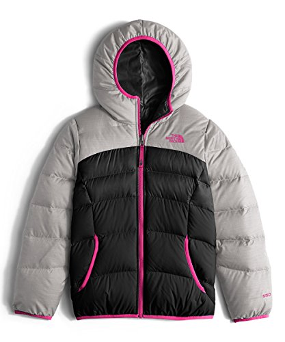 The North Face Kids Girls' Reversible Moondoggy Jacket (Little Kids/Big) 2, Metallic Silver Heather, LG (14-16 Big Kids) by The North Face