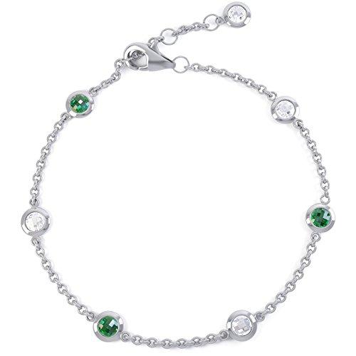 Jian London Sapphire by the Yard Bracelet serti d'émeraudes et saphirs