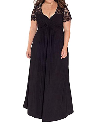 black bridesmaid dress with short sleeves - 7