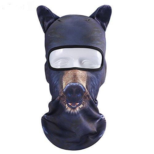 Pasamontañas Full Face Mask, catnew Animal Forma antipolvo cabeza capucha Casco, *BB-08