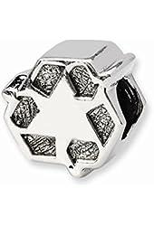 Sterling Silver Recycle Symbol Charm Bead Fits Pandora Chamilia Biagi Bracelet