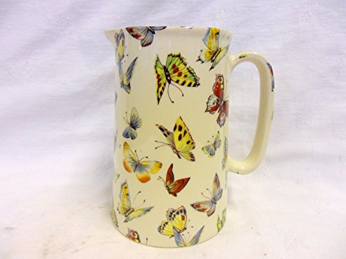 1 Pint Jug in Butterfly design by Heron cross Pottery