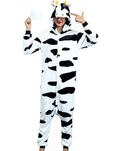 iSZEYU Halloween Christmas Costumes For Women Men Adults Onesie Cow Pajamas Girl Animal