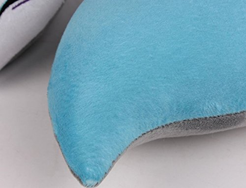 AllLove4U Plush stuffed Toy Cute Spirit Fox U Shape Neck Pillow Travel Pillow Animation gift (Blue) by AllLove4U (Image #4)