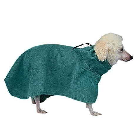 Toalla de baño suave para perros mascotas Toalla de baño súper absorbente de agua para perros Albornoz de secado rápido para perros domésticos: Amazon.es: ...