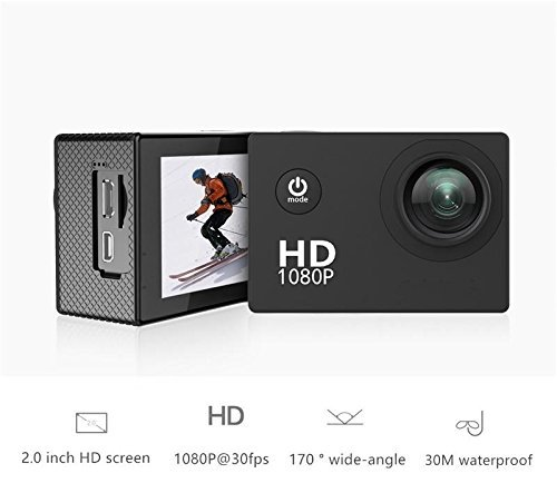 """Bolt Action Camera Waterproof 30m 2"""" LCD 140°Wide-angle 1080P Full HD 14MP with Mounting Accessory Kits China"""