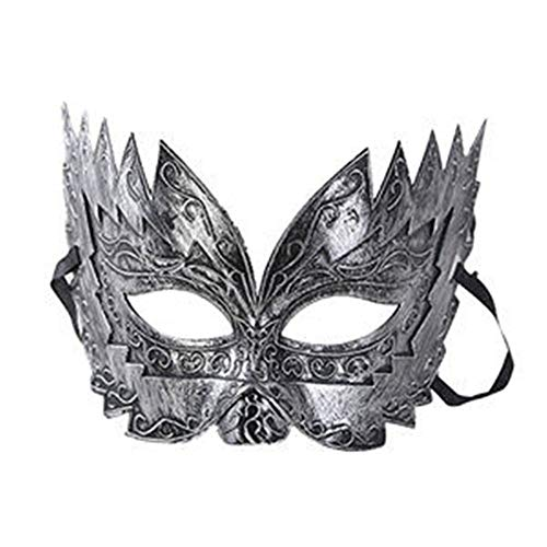 Renaisi Retro Masquerade Eye Mask, Imitation Metal Roman Gladiator Mask for Halloween Party Fancy Dress Cosplay Costume Props Carnival Prom Ball Party Decorations (Color : S)]()