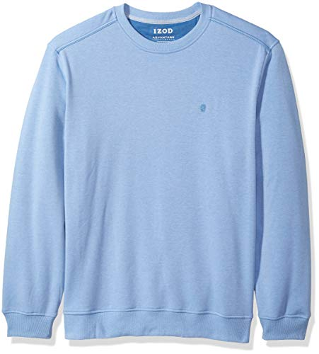 IZOD Men's Advantage Performance Crewneck Fleece Sweatshirt, Cornflower Blue, ()