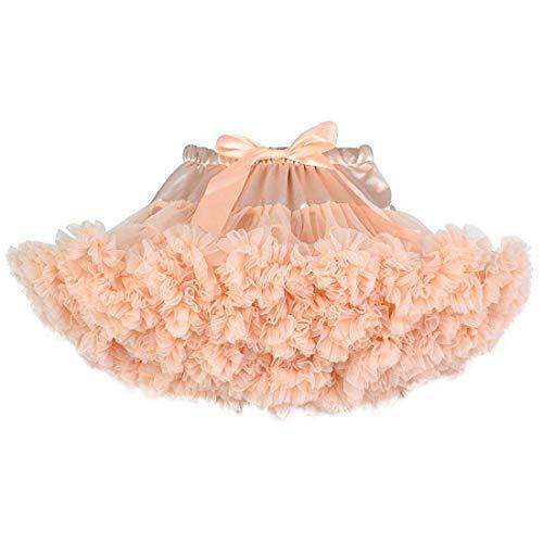 (Baby Girls Tulle Tutu Skirt Princess Fluffy Soft Ballet Birthday Party Pettiskirt 9 Months to 8 Years (Peach, 2-3)