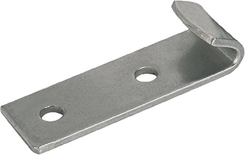Metric Style B Kipp 05530-9242451 Steel Clamp for Latch with Pull Bar Galvanized and Blue Chromated Finish 0.013 kg Weight