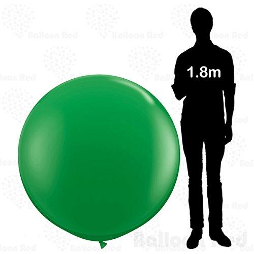4 ft / 48 Inch Giant Jumbo Round Latex Balloons (Premium Quality), Pack of 3, Green (Best Homemade Costume Halloween)