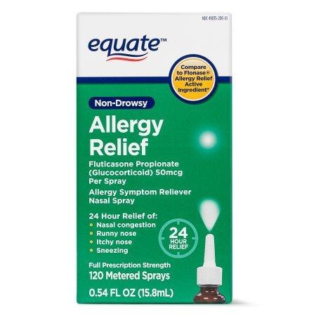 Equate Non-Drowsy Allergy Relief Nasal Spray, 50 mcg, 0.54 Oz by Equate