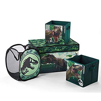 Jurassic World Storage Set, (Pack of 4), Green: Toys & Games