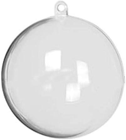 kati way 10pcs Boule Transparente 12cm, Boules de Noël en
