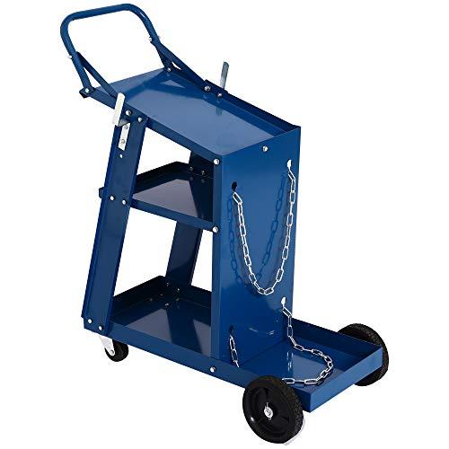 DURHAND Steel 3 Tier Utility Rolling Tool Storage Organizer Welding Cart