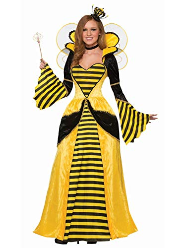 Forum Women's Royal Queen Bee Costume Dress, Yellow/Black, STD