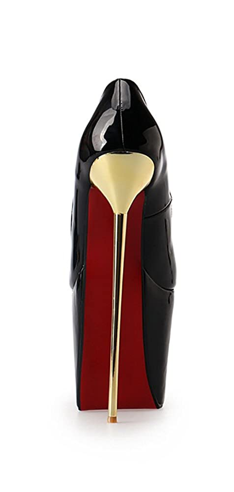 Leeminus Damen Pumps aus PU-Leder 22 cm High Heels schwarz schwarz schwarz 165b0d