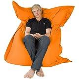 Hi-BagZ?? 4-Way Bean Bag Lounger - GIANT Outdoor Floor Cushion Bean Bags ORANGE - 100% Water Resistant Beanbag by Hi-BagZ??