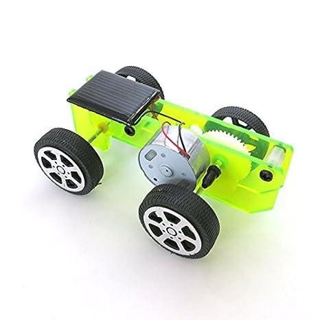 1 Satz Mini solar Power Spielzeug DIY car kit Kinder p/ädagogische Gadgets Kinder kreative Geschenk Dekoration Erwachsene Junge m/ädchen Auto Modell Hobby lustig