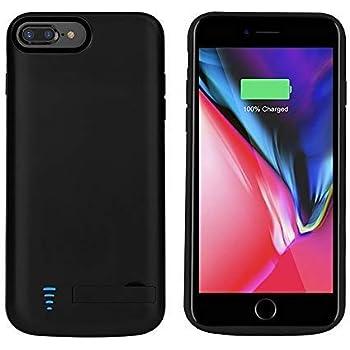 81d5a328e8c runsy iPhone 8+/7+/6S+/6+ caso, 5500 mAh recargable Soporte ampliado de  carga de batería Caso, funda Cargador de batería externa, Backup Power Bank  Caso, ...