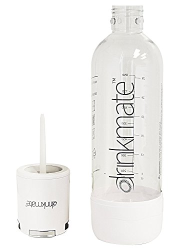 Drinkmate Beverage Carbonation Maker with 3 oz Cylinder Includes Two BPA-free Carbonation bottles, 1Litre and half litre bottles (White) by Drinkmate (Image #3)