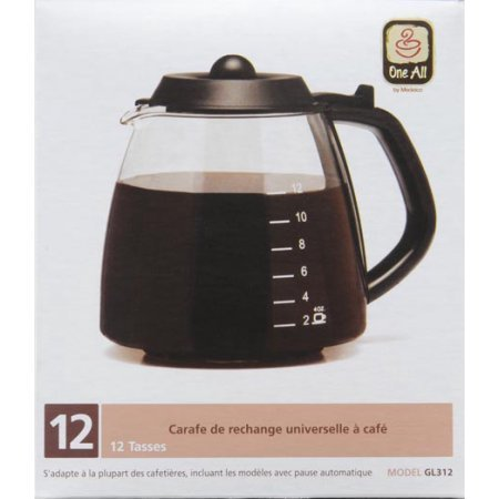 12-Cup Universal Replacement Coffee Carafe , Made from lab-quality borosilicate glass.