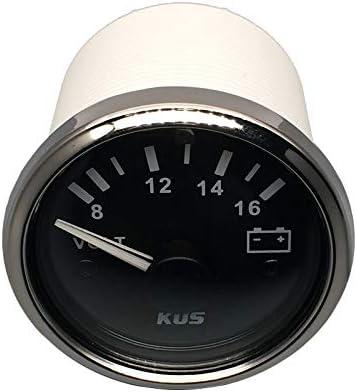 con retroilluminazione Kus impermeabile voltmetro tensione 12/V//8/ 5,1/cm /16/V 52/mm