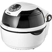 Gourmia GTA1500 Digital Halogen CookCenter - Air Fryer, Griller and Roaster - 7 Preset Modes - Calorie Reduction Technology - Bonus Accessories - 1300W - White/Black - Free Recipe Book