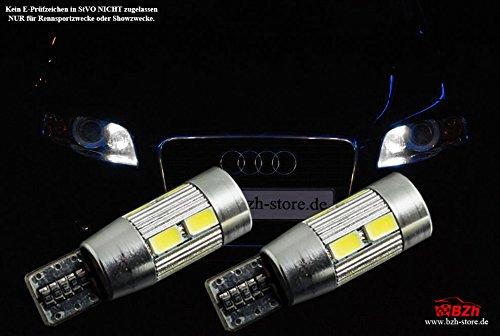 2 x Carreras 10SMD W5 W LED Luz de posición de aparcamiento Audi A6 S6 RS6 ...