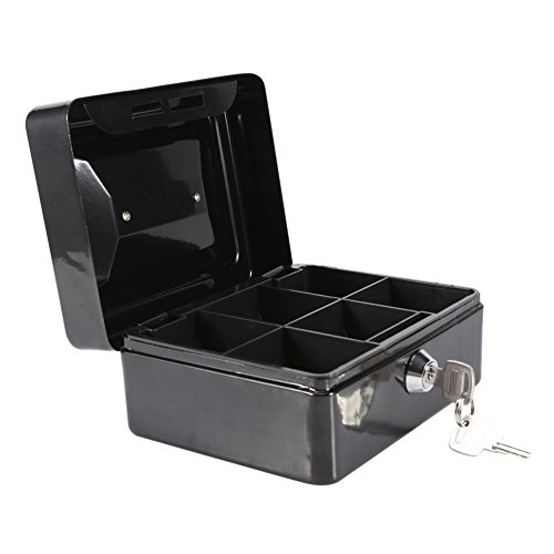 Asixx Caja de Seguridad, Caja de Seguridad Portátil, Caja de caudales, de Acero, Almacenar Joyas, Monedas Y Otros Artículos...