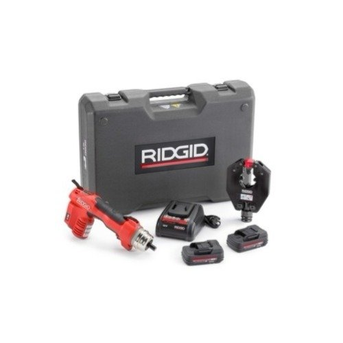 Ridgid 52118 RE 6 Electrical Tool Kit with 4P-6 4PIN Die less Crimp Head and Swiv-L-Punch Knockout Punch Head