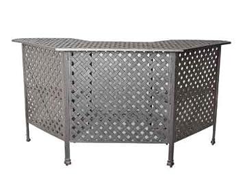 Heritage Outdoor Living Nassau Cast Aluminum Party Bar Table – Antique Bronze