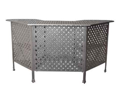 Heritage Outdoor Living Nassau Cast Aluminum Party Bar Table - Antique Bronze (Bar Ohana)