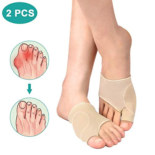 VINGVO Bunion Corrector Sleeve with Gel Pad - Bunion Pads Cushion Splint Orthopedic Bunion Protector for Hallux Valgus Pain Relief for Men and Women