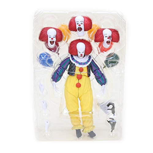 PLAYER-C Movie Stephen Kings It Pennywise Joker Clown Action Figure Toys Cosplay Horror Dolls Halloween Day ()