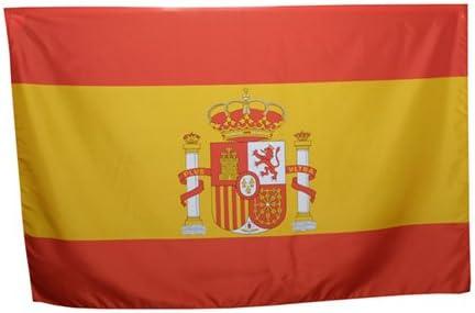 Bandera España España Escudo 90 x 140 cm 100% poliéster con Cordones: Amazon.es: Deportes y aire libre