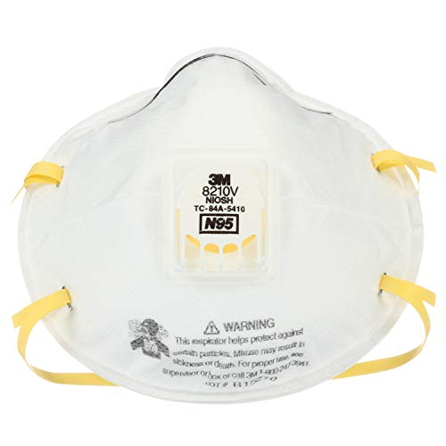 3M 8210V Particulate Respirator, N95 Respiratory Protection (Case of 80)