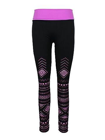 Crush Girls Seamless Yoga Pants Size 7-16 - Purple