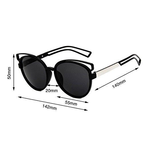 Gafas Sun PC Espejo Horrenz de Dise Se Ador de la Gato para Manera Nueva Vidrio Marco Lujo UV400 de Sol del de oras de Ojo Las Mujer Mujeres de 1 1 Cateye Marca Shade 7waxfwqg