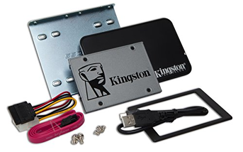 Kingston SUV500B/1920G UV500 Desktop/Notebook upgrade kit - Solid state drive - encrypted - 1.92 TB - internal - 2.5 (in 3.5 carrier) - SATA 6Gb/s - 256-bit AES - Self-Encrypting Drive