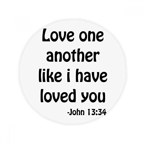 DIYthinker Love One Another Christian Quotes Anti-slip Floor Pet Mat Round Bathroom Living Room Kitchen Door 60/50cm Gift by DIYthinker