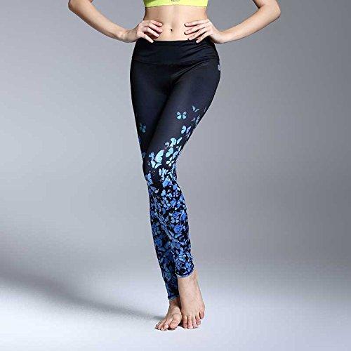 JIALELE Yogahose Yoga Hosen Mädchen Stempelfarbe Fast Dry Enge Stretch Hosen Große Anzahl Niedrig Fitness Hose Hose Mit Hoher Taille 9.