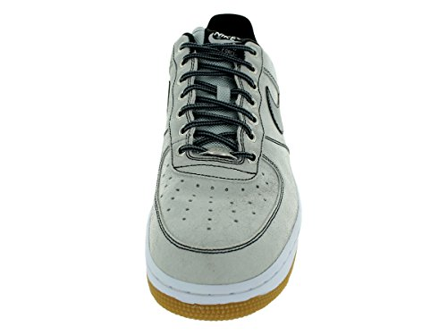 Zapatillas De Baloncesto Nike Air Force 1 Para Hombre 488298-064 Pure Platinum / Black-white-gum Marrón Claro