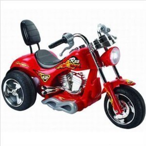 6 mph motorcycle 12v power kids chopper ride on wheels red yellow or orange