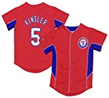 OuterStuff Ian Kinsler Texas Rangers Red Youth Team Leader Jersey