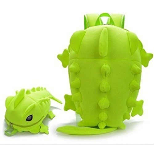 Z&S Cute Cartoon Backpack 3D Monster Dinosaur School Bags for Teenagers Book Bag Satchel Mochila - Green